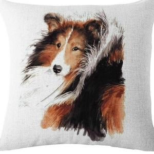 Pillow Cover- NEW- Collie Dog
